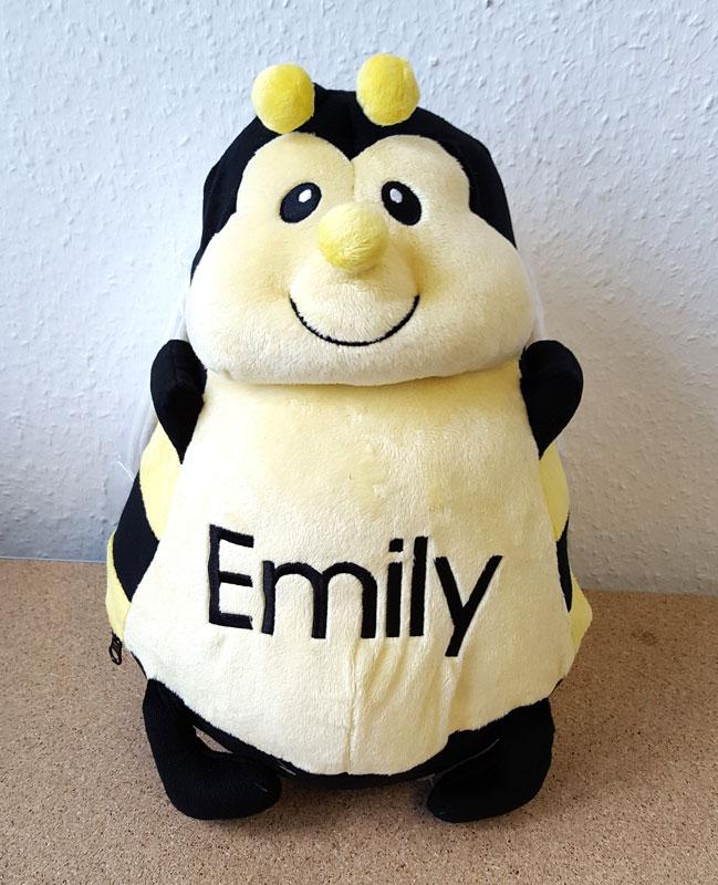 Plüschtier Biene mit Namen