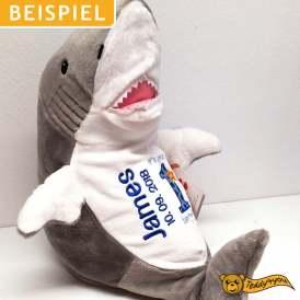 Geburtstagsgeschenk Plüschtier - Hai mit Name