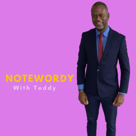 Cover Image of my Podcast, Notewordy With Teddy