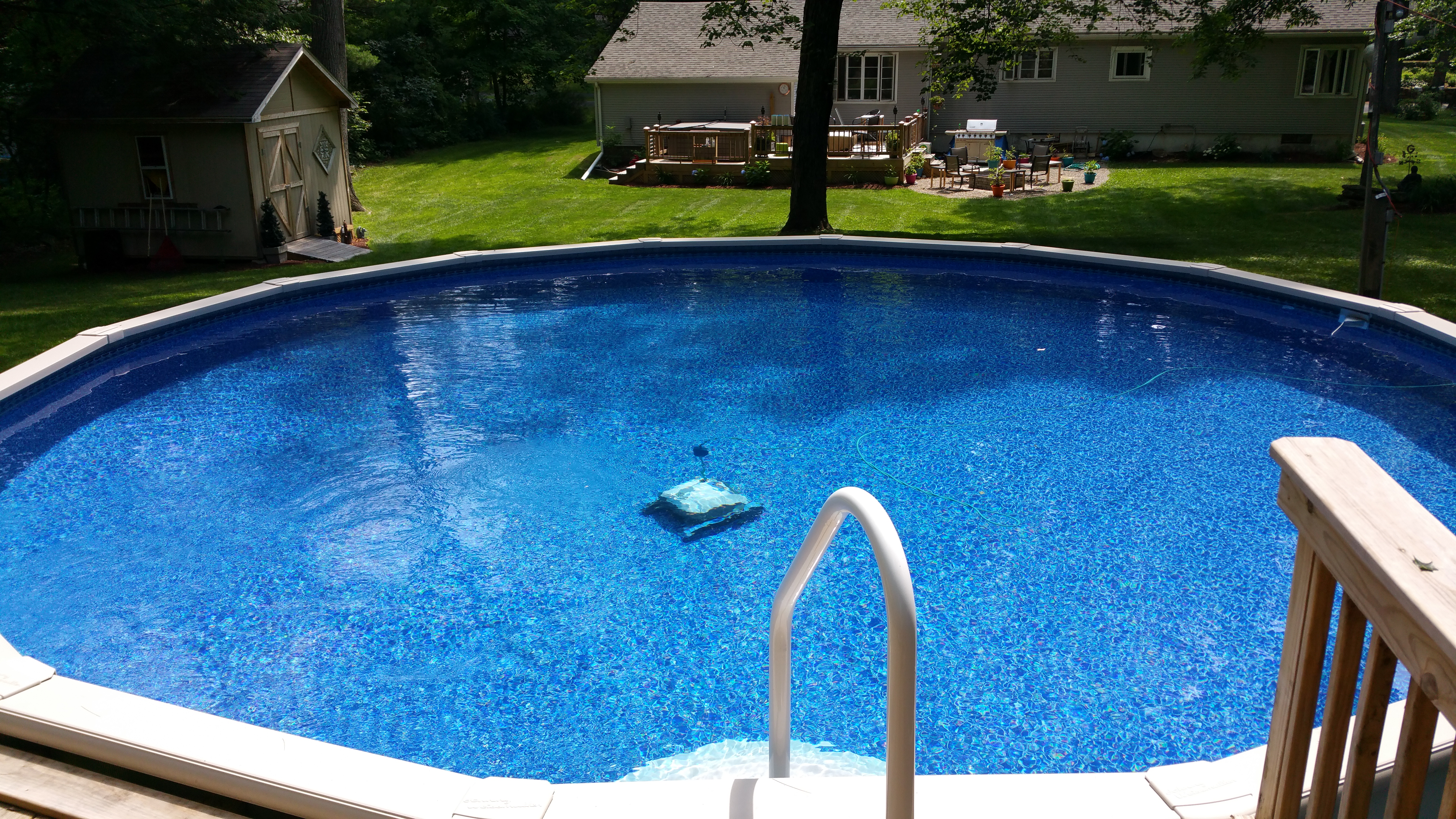 Above ground pool showroom teddy bear pools and spas - Above ground swimming pools pictures ...