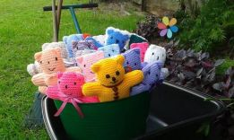 a whole bunch of teddies from Coolum Craft Group, QLD :)