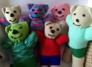 Teddies made for Standby by Carol Twiddey