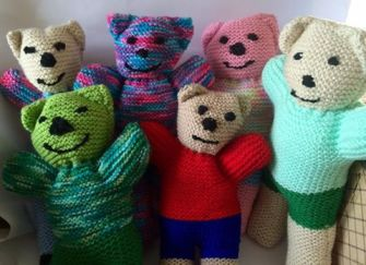 Teddies made for Standby by Carol Twiddey