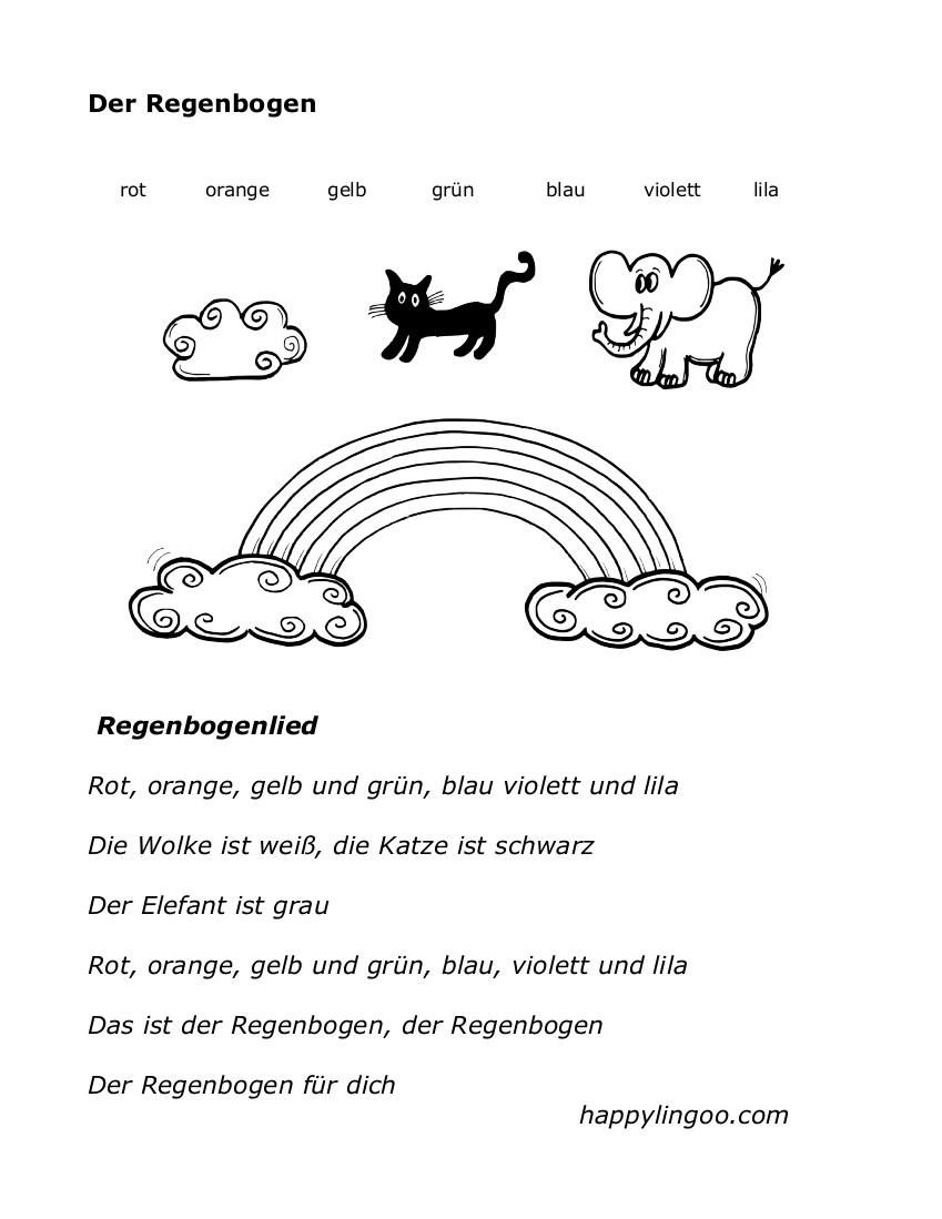 Groß Farben Arbeitsblätter Für Den Kindergarten Bilder - Malvorlagen ...