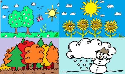 Bildkarten Jahreszeiten