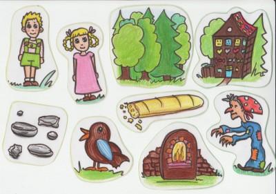 Hansel und Gretel Puzzleteile