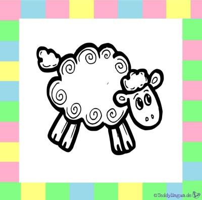 Schaf zum Ausmalen