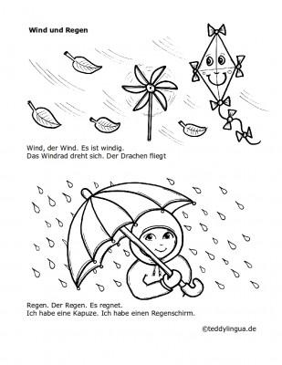 Wind und Regen