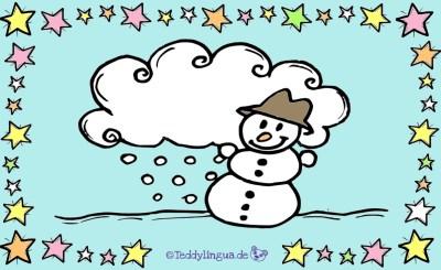Schneemann, Schnee, Wolke