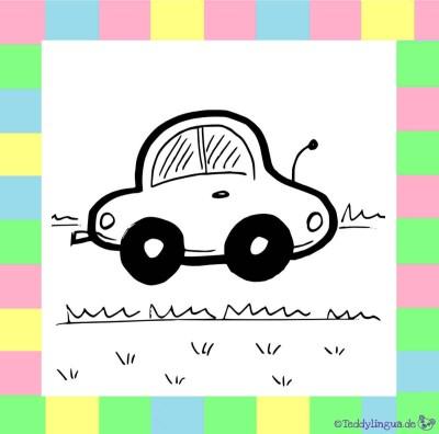 Auto zum Ausmalen (schwarz-weiß)