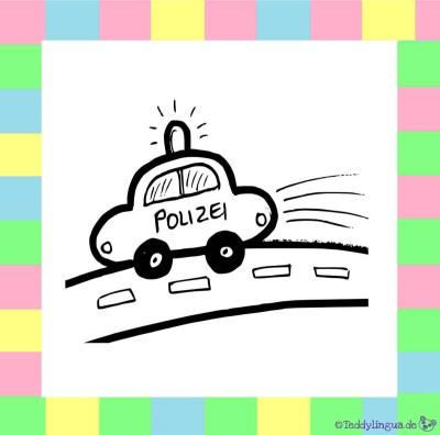 das Polizeiauto