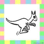 Känguru zum Ausmalen auf weißem Hintergrund