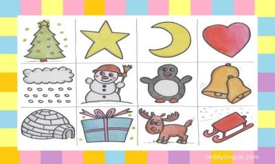 Lottospiel Weihnachten und Winter