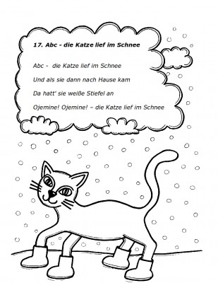 ABC die Katze lief im Schnee