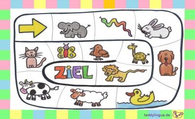 Brettspiel: Tiere