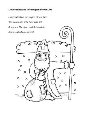 Lieber Nikolaus wir singen dir ein Lied