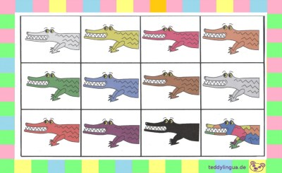 Farbenlotto Krokodile