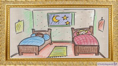 Sie gehen schlafen.