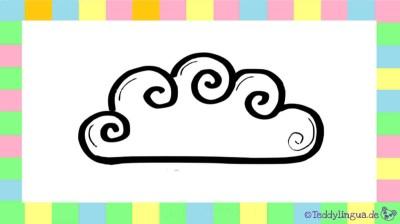 Wolke auf weißem Hintergrund