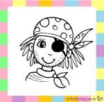 Karnevalskostüm Pirat zum Ausmalen