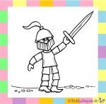 Karnevalskostüm Ritter zum Ausmalen