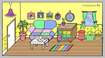 buntes Wohnzimmer