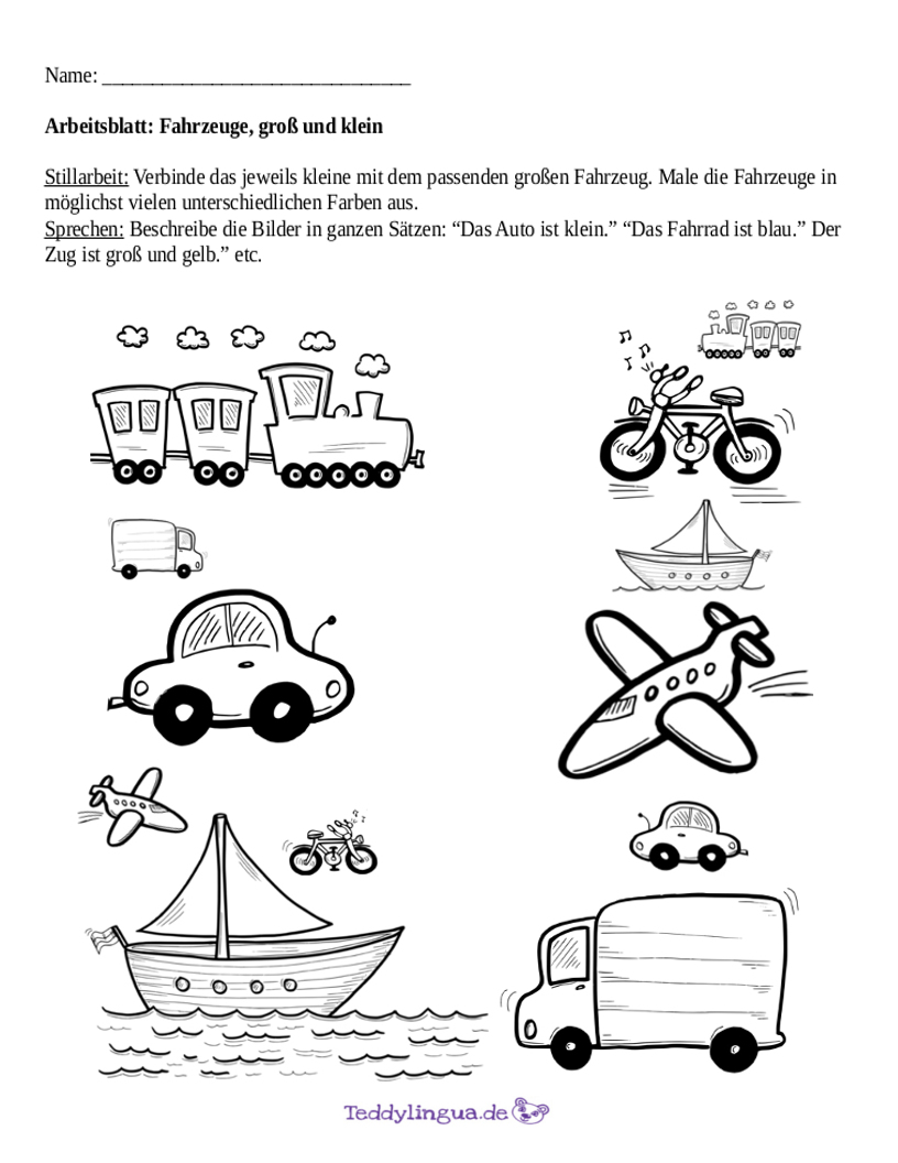 Abc Zug Arbeitsblatt : Arbeitsblätter teddylingua