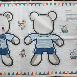 Quilt Panel Teddy