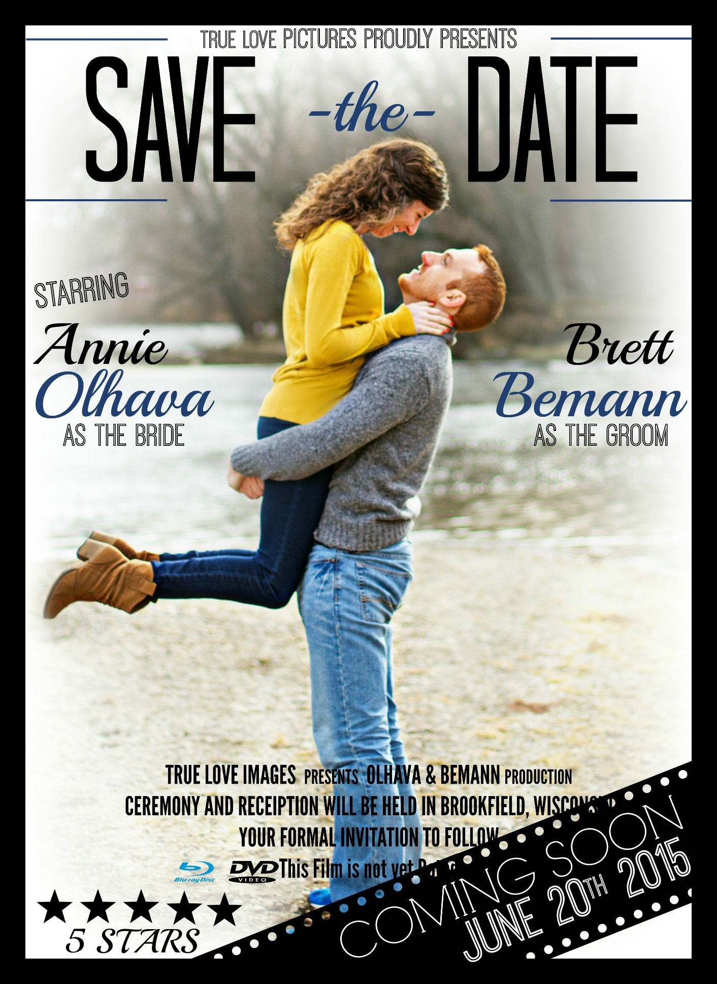 Wedding Save The Date Movie Poster TEDesigns