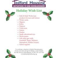 Tedford Housing's Holiday Wish List 2015