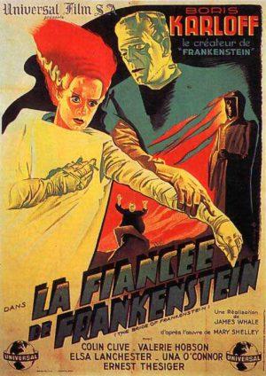 bride of frankenstein french poster
