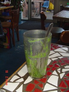 Kale Smoothie at Satellite Coffee House. Envigorating, in a green sort of way.