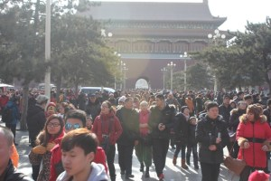 It turns out the Spring Festival is a very popular time for Chinese tourists to visit the Forbidden City