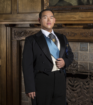 Christopher Yoon is Prince Ramiro, who will give Cinderella a bracelet instead of a glass slipper in this version of the story.