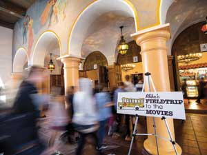"Approximately 2,000 school kids descended upon the Arlington Theatre for ""Mike's Field Trip to the Movies"" during the SBIFF.NIK BLASKOVICH/NEWS-PRESS"