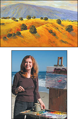 At top, 'EAGLE CANYON,' B.J. STAPEN. Above the studio isn't the only place you'll find B.J. Stapen plying her craft.