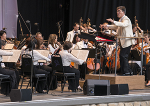 """The New York Philharmonic's performance included Aaron Copland's epic masterpiece """"Appalachian Spring"""" and Leonard Bernstein's """"West Side Story."""""""
