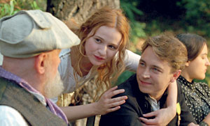 From left, Mr. Bouquet as Pierre-Auguste Renoir, Christa Theret as Andree Heuschling and Vincent Rottiers as Jean Renoir Samuel Goldwyn Films photos