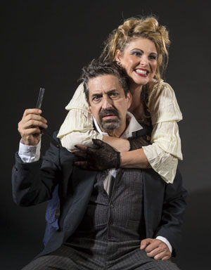 "David Studwell and Heather Ayers are two of the actors performing in Ensemble Theatre Company's ""Sweeney Todd: The Demon Barber of Fleet Street."" David Bazemore photo"