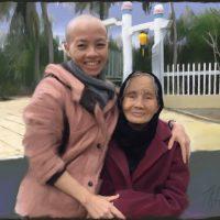 Sư Cô Đức Quang and her Grandmother