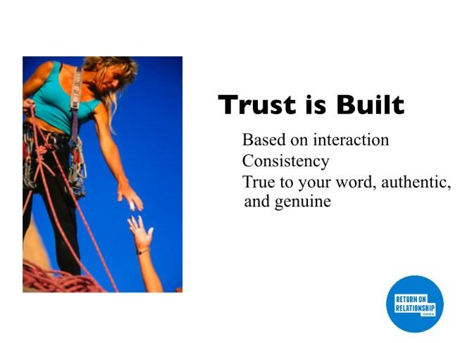 Trust #3 Trust is Built