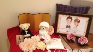 小物使いがカギ♡先輩花嫁様に学ぶ「和風ベアの飾り方」。