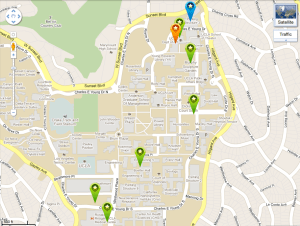 Click to go to the interactive Google Map for TEDxUCLA
