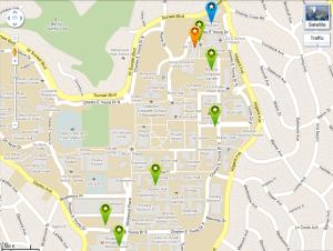 TEDxUCLA Interactive Google Map