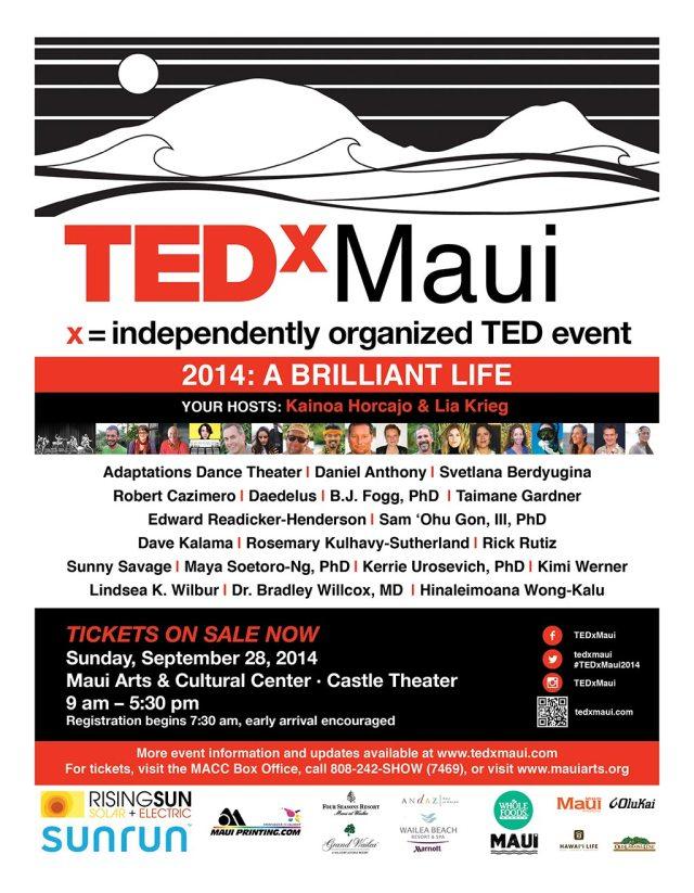 TEDxMaui 2014: A Brilliant Life