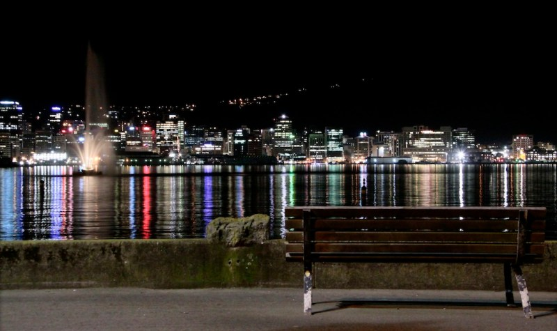 wellington city night skyline