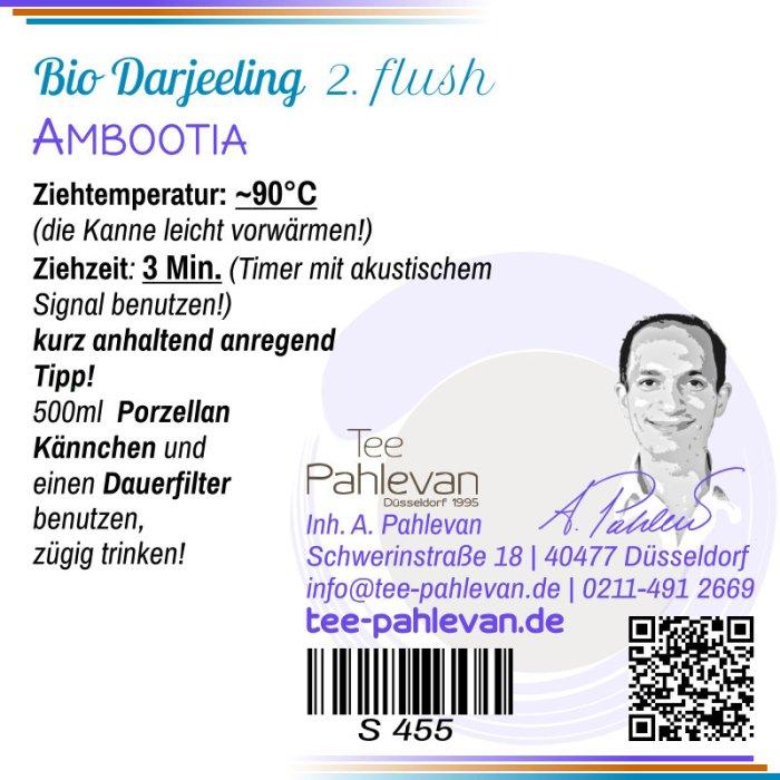 Bio Schwarzer Tee Darjeeling Ambootia second flush   spritzig vollmundig herb-fruchtig von Tee Pahlevan