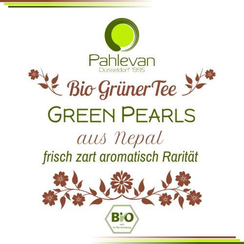 Bio Grüner Tee aus Nepal Green Pearls | frisch, zart, aromatisch, Rarität von Tee Pahlevan