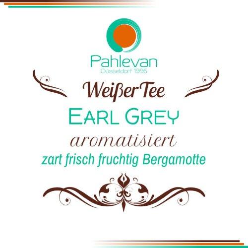 Weißer Tee Earl Grey   zart, fisch, fruchtig, Bergamotte