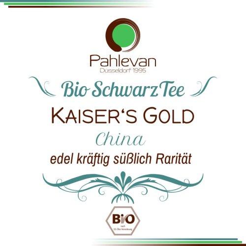 Bio Schwarzer Tee China Kaisers Gold   edel kräftig süßlich Rarität von Tee Pahlevan